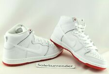 finest selection ff238 7bb48 Nike SB Zoom Dunk High Pro QS Kevin Bradley White Red Ah9613 116 Size 12