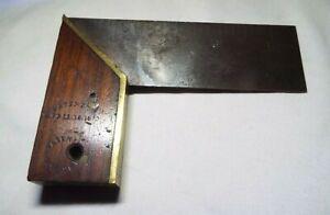 ANTIQUE PATENTED APRIL 16 1872 4.5 INCH CARPENTERS SQUARE READ!!!