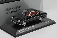 1962 Ford Taunus 12M Coupe black schwarz 1:43 Minichamps