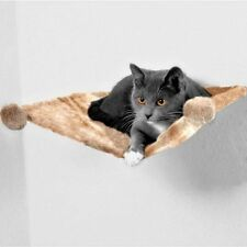 Wall Mounted Cat Bed Hammock Shelf Basket Sleeping Area Snuggle Plush FREE TOY!