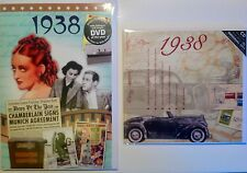 1938 79th Birthday Gift Set - 1938 DVD , Pop Compilation Music CD and Year Card