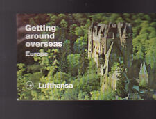Getting Around Overseas Europe Booklet Lufthansa 1979