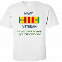 USS TRUXTUN  DLGN-35 * SOUTH VIETNAM* VIETNAM VETERAN RIBBON 1959-1975 SHIRT