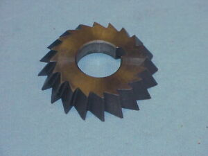 """Horizontal Mill Milling Cutter 2 3/4"""" Dia. X .500 Wide 1"""" Hole 60 Degree Single"""