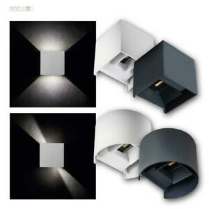 LED Außen-Wand-Leuchten 7W 230V IP54 Fassadenstrahler up/down Winkel einstellbar