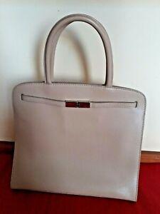 Furla Cream Leather Handbag