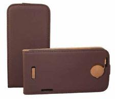 Premium Flip Case Tasche braun für HTC One X Hülle Etui Cover Schutzcase