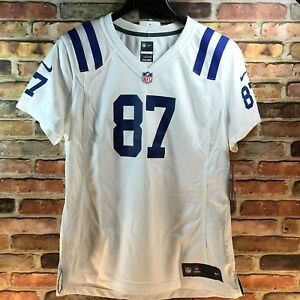 New Authentic Indianapolis Colts NFL Game Jersey Reggie Wayne #87 Large Women