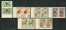 Tanger: Spanish Telegraph lot of 6 different stamps in pairs of fauna...TNG02
