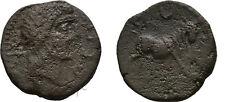 Ancient Greece 2 Cent BC IBERIA SPAIN SEMIS CASTULO BULL CRESCENT