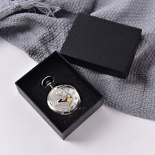 Black Display Case for Single Pocket Watch Jewel Chain Storage Gift Box LC