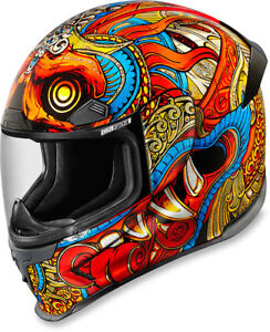 Icon Airframe Pro BARONG Full-Face Motorcycle Helmet (RED Multi) Choose Size