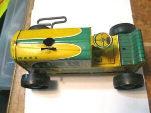 Marx #5 Tractor: yellow/green vintage tin wind-up