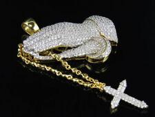 Collares y colgantes de joyería con diamantes brillantes de plata de ley