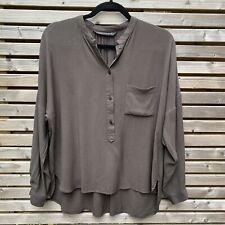 Zara woman dark oliv Oversize Shirt Bluse Top Gr. S/UK 10 VGC