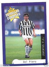 Rare '96 Panini Italy's EUROPEAN SUPER STAR Alessandro Del Piero with Jueventus