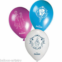 "8 Disney's FROZEN Snow Queen Birthday Child's Party 11"" Printed Latex Balloons"