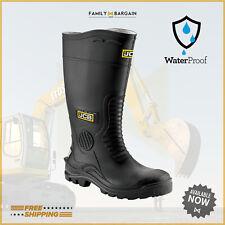 JCB Hydromaster Wellington Safety Work Boots Wellies Steel Toe Waterproof Black