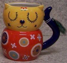 Coffee Mug BOHO Bohemian Cat NEW 14 ounce cup with gift box