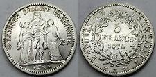 FRANCIA 1870 A 5 FRANCOS FRANCS MONEDA PLATA RARA BC+