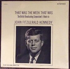JFK John Fitzgerald Kennedy, That Was The Week That Was LP, 1963 SEALED BBC