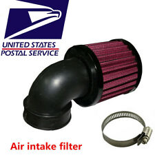 90° Curved  Air Cleaner Intake Filter 45-48mm Inlet For Motorcycle Scooter ATV