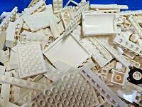 3 Pounds LEGO Bulk Lot White Clear Bricks Plates Parts Building mix pieces lbs