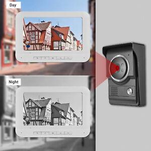 "Wireless WiFi Video Door Phone IP Intercom System 7"" Monitor Doorbell Camera"