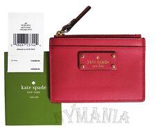 NWT Kate Spade Adi Grove Street Mini Wallet Coin Card Case Red Carpet WLRU2811