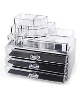 Cosmetics Organizer, Makeup, Jewelry Acrylic Display Box Storage w/ Drawers