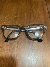 Vintage Horn Rim Fendall 4 Safety Glasses Multi-Fit Gray Retro 46-22