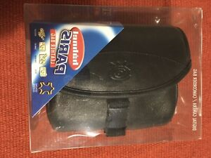 Small Black Leather Camera Bag Digital Camera/Camcorder Bag