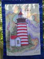 Donna Elias MAINE Great American Lighthouse Flag MAINE Yard Banner 28x43 NEW