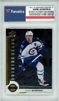 Mark Scheifele Jets Signed 2017-18 UD Series One #SSC-6 Shooting Stars Card