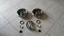 FORD FOCUS  98-05 TWO BRAKE DRUMS  WITH FITTED BEARINGS ABS RINGS SET OF SHOES