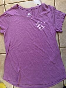 """Justice Girl's Size 18 PLUS T-SHIRT PURPLE Top Shirt WITH HEART """"BE YOU"""" NWT"""