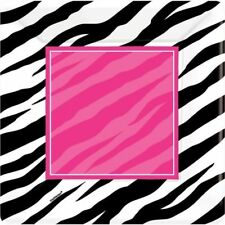 Amscan Pink Zebra Birthday Party Celebration Dessert Plates (Pack Of 8)