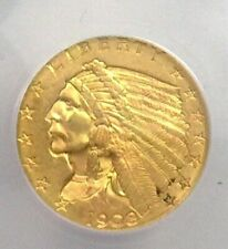 1908 2.5 INDIAN GOLD MS-61 IN AN ANACS HOLDER!