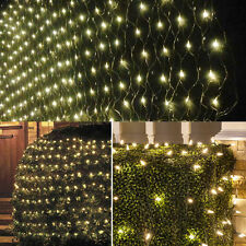 Net Mesh Light Christmas Tree Street Fairy String Warm White Lights Curtain