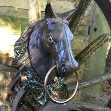 Pferdekopf Wanddekoration aus Metall - Garten Wandobjekt, Dekoration Pferdestall