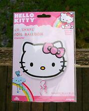 "Hello Kitty Foil Party Balloon Sanrio 13"" x 15"" Pink Bow Birthday Valentines Day"