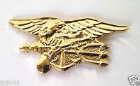 US NAVY SEAL TEAM TRIDENT   (SMALL GOLD)   Military Veteran  Hat Pin 15669-GL HO