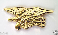 US NAVY SEAL TEAM TRIDENT   (SMALL GOLD)   Military Veteran  Hat Pin 15669-GL HO