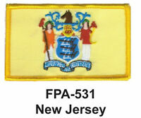 NEW JERSEY State Flag Embroidered Patch-2-1/2'' X 3-1/2""