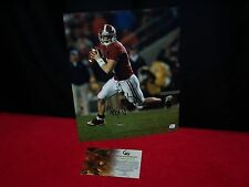 GREG McELROY SIGNED 11x14 ALABAMA CHAMPS QB PHOTO GLOBAL AUTHENTIC CERTIFIED