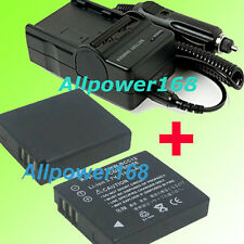 Digital Camera new Battery pack + Charger For PANASONIC CGA-S005 Lithium-ion