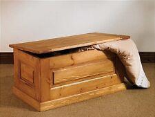 Hampton waxed pine furniture blanket storage box chest