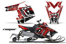 Sled Graphics Kit Decal Sticker Wrap For Polaris Pro RMK Rush 11-16 REAPER RED