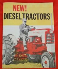 1957 Ford Diesel Tractors Dealer Sales Brochure 821 841 851 861 941 951 961