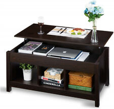 Living Room Wood Lift Top Dining Coffee Table Hidden Compartment Storage Space